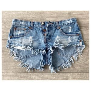 ONE Teaspoon Bonitas Denim Shorts